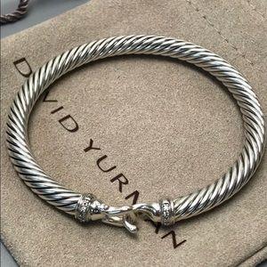 David Yurman Diamond Buckle Sterling Bracelet